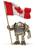 Knight with Canada flag Stock Images