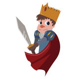 Knight. Cartoon image of a fairytale knight Stock Images