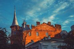 Knight Castle in evening light. Kiev, Ukraine Royalty Free Stock Photo