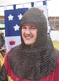 Knight in chain mail Stock Photography