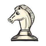 Knight - chess figure Stock Photos