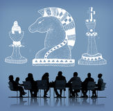 Knight Chess Piece Strategy Graphic Concept Stock Photos