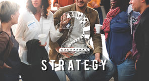 Knight Chess Piece Strategy Graphic Concept Stock Image