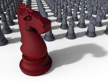 Knight chess red leader piece Royalty Free Stock Photo