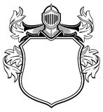 Knight with coat of arms. An illustration of a knight with a coat of arms Stock Photo