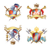 Knight Colorful Emblems Stock Photos
