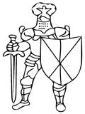 Knight coloring pages Stock Photo