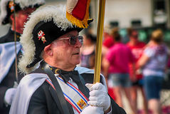 Knight Of Columbus. From the 4th of July parade Stock Photography