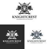 Knight crest. Lion shield logo. Logo suitable for businesses and product names. Easy to edit, change size, color and text Royalty Free Stock Image