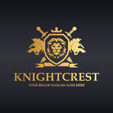 Knight crest. Power shield royalty free stock photos