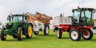 Modern knight crop sprayers at show Royalty Free Stock Photography