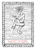 Knight of cups. The tarot card. Royalty Free Stock Photography