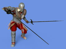 Knight. 3D CG rendering of a knight Royalty Free Stock Photo