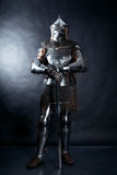 Knight on dark background Stock Image