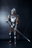 Knight on dark background Royalty Free Stock Photos