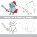 Knight. Drawing worksheet. Royalty Free Stock Images