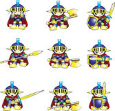 Knight emotions Stock Photos