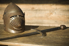 Knight encampment Stock Images