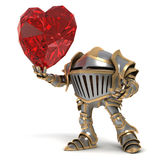 Knight fall in love Royalty Free Stock Photography