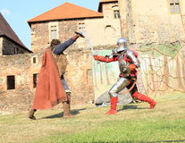 Free Knight Fighting With Servant Stock Images - 56747204