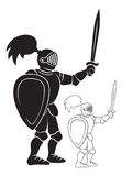 Knight. The figure shows a knight with a sword Royalty Free Stock Image