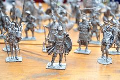 Knight figures. Army of medieval knight figures Royalty Free Stock Image
