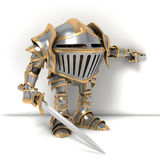 Knight the finger at Stock Photography