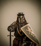 Knight in full armour Stock Images