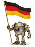 Knight with German flag Stock Photography