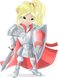 Knight girl Stock Image