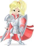Knight girl Stock Image