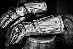 Knight gloves Royalty Free Stock Images