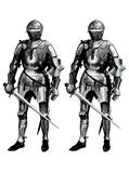 2 Knight 2. Knight 2 - gravure effect in photoshop Stock Image