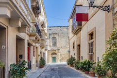 Knight Hall in Vittoriosa (Birgu), Malta Royalty Free Stock Photos