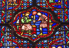 Knight Head Stained Glass Sainte Chapelle Paris France Stock Photo