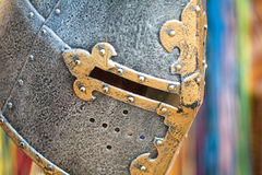 Knight helmet. With colorfull background Royalty Free Stock Photos