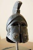 Knight helmet. Decorative knight helmet made from stone Stock Images