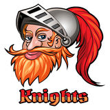 Knight in a Helmet Emblem Royalty Free Stock Image