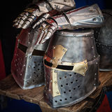Knight helmet Royalty Free Stock Images