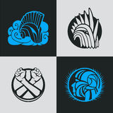 Knight helmet logo template Stock Images