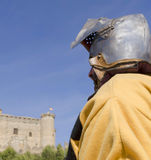 Knight with helmet Stock Photos