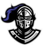 Knight helmet mascot Stock Photography