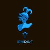 Knight helmet royal design background Royalty Free Stock Photo