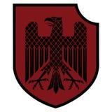 Knight heraldic emblem. German heraldic shield with an eagle Royalty Free Stock Photos