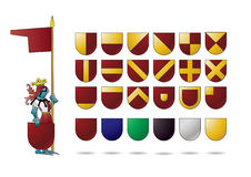Knight with heraldry shield Stock Image