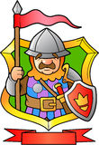 Knight holding a spear. Brave knight holding a spear Stock Images