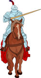 Knight on horse Stock Photography