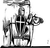 Knight on Horse Stock Image