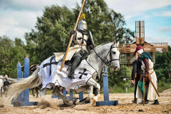 Knight on the horse Stock Photography