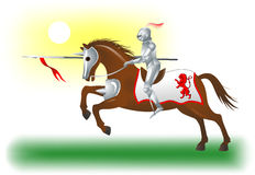 Knight-horse-6 fotografia stock